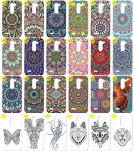 Back Case 0.3mm Kreatui PRINT COVER ArtCase LG X MACH + PROTECTOR