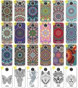 Back Case 0.3mm Kreatui PRINT COVER ArtCase MOTOROLA MOTO C + GLASS 9H