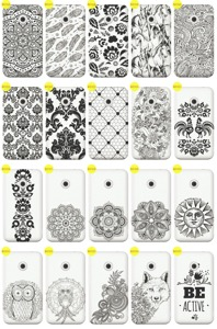 Back Case Cover Kreatui LaceCase VODAFONE SMART FIRST 7 + GLASS 9H