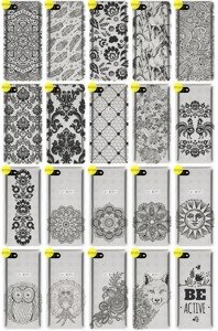 Back Case Cover Overprint Kreatui LaceCase ALCATEL A5 LED