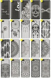 Back Case Cover Overprint Kreatui LaceCase ALCATEL A5 LED + GLASS 9H