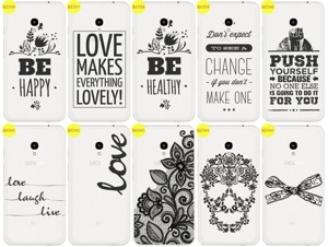 Back Case Cover Overprint Kreatui LaceCase ALCATEL PIXI 4 5.0 + GLASS