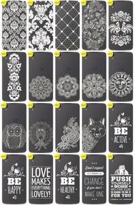 Back Case Cover Overprint Kreatui LaceCase BLACKBERRY DTEK50 +GLASS 9H