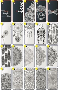 Back Case Cover Overprint Kreatui LaceCase HTC DESIRE 628 + GLASS 9H