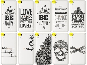 Back Case Cover Overprint Kreatui LaceCase HTC DESIRE 728 + GLASS 9H