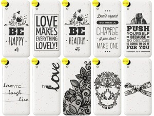 Back Case Cover Overprint Kreatui LaceCase HTC DESIRE 825 + GLASS 9H