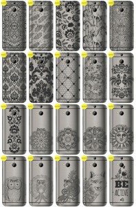 Back Case Cover Overprint Kreatui LaceCase HTC ONE M8S + GLASS 9H