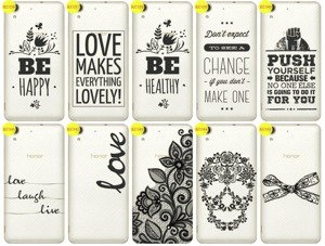 Back Case Cover Overprint Kreatui LaceCase HUAWEI HONOR 5A + GLASS 9H