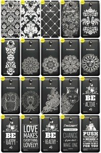Back Case Cover Overprint Kreatui LaceCase LENOVO A319 RocStar