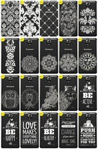 Back Case Cover Overprint Kreatui LaceCase LENOVO A536 + GLASS 9H