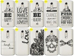 Back Case Cover Overprint Kreatui LaceCase LENOVO MOTO X FORCE