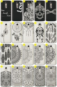 Back Case Cover Overprint Kreatui LaceCase LENOVO MOTO X FORCE + GLASS