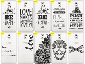 Back Case Cover Overprint Kreatui LaceCase LENOVO P1M + GLASS 9H