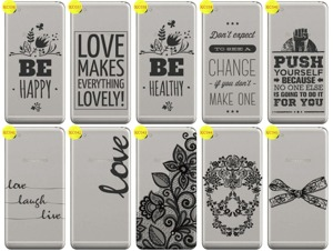 Back Case Cover Overprint Kreatui LaceCase LENOVO S90 / S90T +GLASS 9H