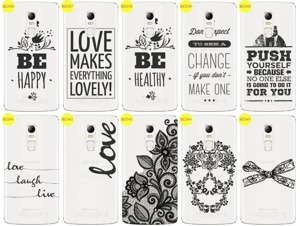 Back Case Cover Overprint Kreatui LaceCase LENOVO VIBE X3 + GLASS 9H