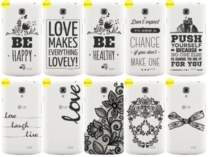Back Case Cover Overprint Kreatui LaceCase LG F70 + GLASS 9H