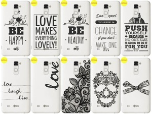 Back Case Cover Overprint Kreatui LaceCase LG STYLUS 2 + GLASS 9H
