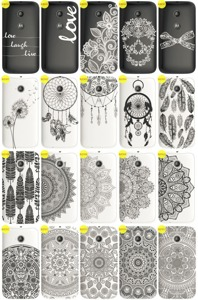 Back Case Cover Overprint Kreatui LaceCase MOTOROLA MOTO E LTE + GLASS