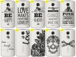 Back Case Cover Overprint Kreatui LaceCase MOTOROLA NEXUS 6