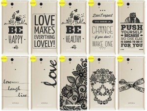 Back Case Cover Overprint Kreatui LaceCase SONY XPERIA C3
