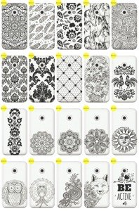 Back Case Cover Overprint Kreatui LaceCase VODAFONE SMART FIRST 7
