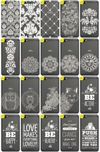 Back Case Cover Overprint Kreatui LaceCase WIKO LENNY 3 + GLASS 9H
