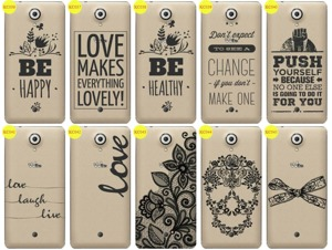 Back Case Cover Overprint Kreatui LaceCase WIKO UFEEL
