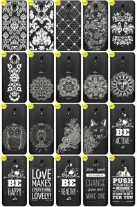 Back Case Cover Overprint Kreatui LaceCase WIKO UPULSE + GLASS 9H