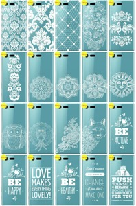 Back Case Cover Overprint Kreatui LaceCase XPERIA X COMPACT + GLASS 9H