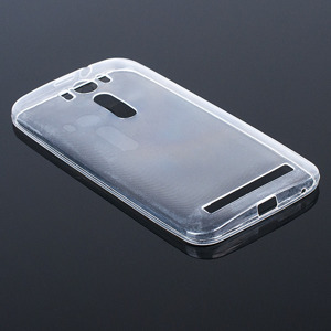 CASE COVER ASUS ZENFONE 2 LASER slim 0.3mm TRANSPARENT NO WATER VAPOR