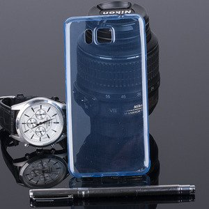 CASE COVER SAMSUNG GALAXY ALPHA SM-G850 0.3mm BLUE NO WATER VAPOR