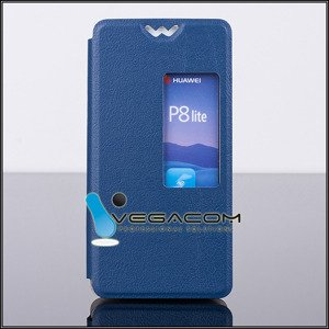 CASE COVER TPU TPU WINDOW VIEW FOR HUAWEI ASCEND P8 BLUE