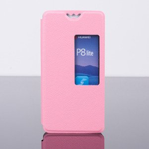 CASE COVER TPU TPU WINDOW VIEW FOR HUAWEI ASCEND P8 LITE PINK