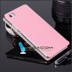 CASE COVER TPU TPU WINDOW VIEW FOR HUAWEI ASCEND P8 PINK