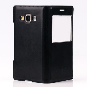 CASE COVER TPU WINDOW VIEW FOR SAMSUNG GALAXY A3 SM-A300 BLACK