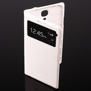 CASE COVER TPU WINDOW VIEW FOR SAMSUNG GALAXY S4 GT-I9500 WHITE