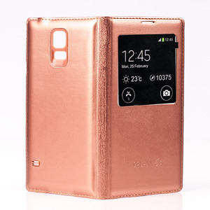 CASE COVER TPU WINDOW VIEW FOR SAMSUNG GALAXY S5 SM-G900 GOLD