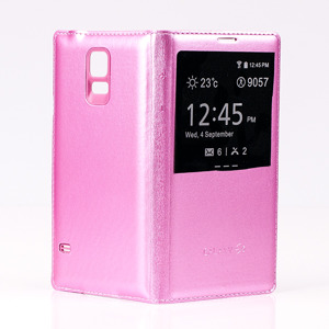 CASE COVER TPU WINDOW VIEW FOR SAMSUNG GALAXY S5 SM-G900 PINK