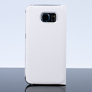 CASE COVER TPU WINDOW VIEW FOR SAMSUNG GALAXY S6 SM-G920 WHITE