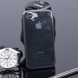CASE COVER for iPhone 4 4S Ultra slim 0.3mm BLACK NO WATER VAPOR
