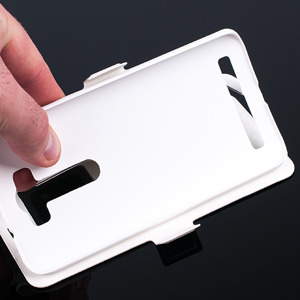 FLIP SLIM CASE COVER TPU WINDOW VIEW FOR ASUS ZENFONE 2 LASER 5 WHITE
