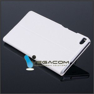 FLIP SLIM CASE COVER TPU WINDOW VIEW HUAWEI ASCEND P8 WHITE