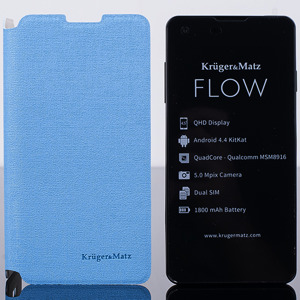 ORIGINAL WALLET FLIP CASE COVER KRUGER MATZ FLOW BLUE