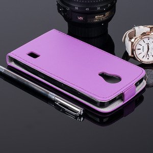 SLIM FLIP CASE COVER RUBBER magnet HUAWEI ASCEND Y635 PURPLE