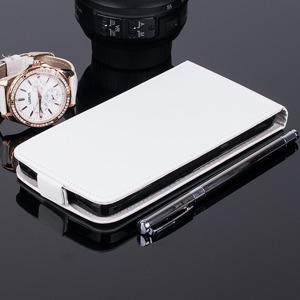 SLIM FLIP CASE COVER RUBBER magnet HUAWEI ASCEND Y635 WHITE