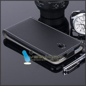 SLIM FLIP CASE COVER magnet  ALCATEL ONE TOUCH IDOL 2 6037 BLACK