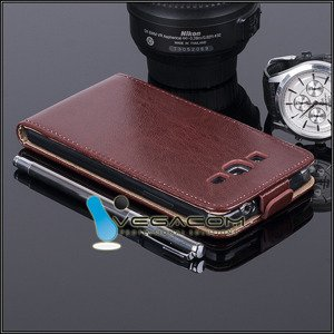 SLIM FLIP CASE COVER magnet SAMSUNG GALAXY GRAND PRIME SM-G530 BROWN