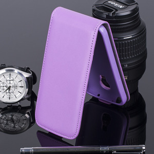 SLIM FLIP CASE COVER magnet SAMSUNG GALAXY S4 MINI GT-i9190 PURPLE