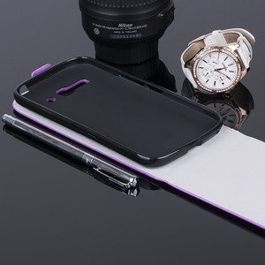 SLIM FLIP CASE COVER magnet TPU ALCATEL ONE TOUCH POP C9 PURPLE
