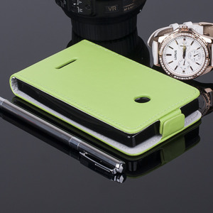 SLIM FLIP CASE COVER magnet TPU MICROSOFT LUMIA 435 532 GREEN